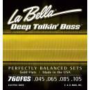 LA BELLA 760FGS MUTA PER BASSO ELETTRICO 045-105 GOLDEL ALLOY FLAT WOUND
