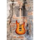 James Tyler Studio Elite HSS Quilted Maple Bent Top Tobacco Sunburst Rear Rout Birdseye Neck Made in