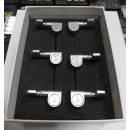 Schaller M6 Pin Satin Chrome 3L+3R Set meccaniche per chitarra