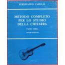 Edizioni musicali CARULLI METODO CHITARRA VOL.3 -EB1151-