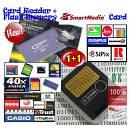 128MB Smartmedia Card+Lettore Memorie PC-Roland-Boss-KORG-Audiovox-Zoom-CASIO-