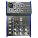 Extreme MX502 MIXER 3 CANALI COMPATTO PER LIVE PHANTOM POWER +48V + CD TAPE IN E OUT