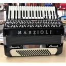 MARZIOLI SUPER FISARMONICA 80 BASSI A PIANO IN TERZA 7 + 2 REGISTRI