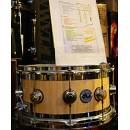 DW Drums Edge Exotic Natural Laquer over curly Exotic 14x7