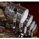 Sistema completo di illuminazione a led con 8 proiettori par e centralina