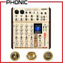 Phonic AM6GE - MIXER 6 CANALI CON BLUETOOTH, REGISTRATORE E INTERFACCIA USB