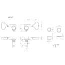 GOTOH GB707 C - Set Meccaniche L2+R2 Cromato per basso