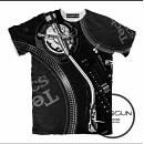 Giradischi Technics SL 1200 SL 1210 DJ T-shirt 3D-quality exellent spediz gratis