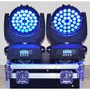 2 PZ. TESTA MOBILE WASH 36 LED X 10 W + 1PZ. FLIGHTCASE LIGHTPLANET LP3610LEDKIT