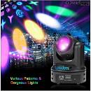 beam moving head 60w 12 gobos 6 color fascio stretto sharpy led testa mobile