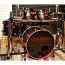 "X-Drum MONSTER ""BKS""Limited Ed in acero! 6 Pezzi+clamp reggitom. SOTTOCOSTO!"