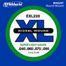 D'Addario EXL220 Set corde per basso 4 corde Super Light Long