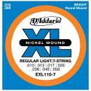 D'Addario per chitarra elettrica a sette corde  EXL110-7 misura 010-059