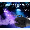 MACCHINA DEL FUMO 3000W FOG MACHINE CON TELECOMANDO E DMX CON TANICA 5L