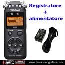 REGISTRATORE TASCAM DR 05 V2 + SD 4GB + ALIMENTATORE ORIGINALE