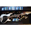 Music Man SR5 StingRay5 - neck-thru-body - white pearl - tastiera in palissandro