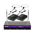 Gemini Vhf 2001 Hl 2/6 - Sistema Microfonico Wireless Ad Archetto A 2 Canali