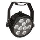PAR LED Power Spot 9 Q6 Tour RGBWA-UV in uno 9x12W per teatro palchi TV