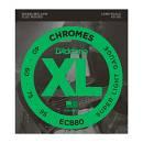 D'Addario CHROMES ECB80 CORDE LISCE PER BASSO FLAT WOUND 40-95 long scale
