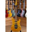 Tom Anderson Drop Top Translucent Yellow with Binding Matching Headstock Floyd Rose