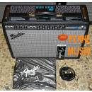 FENDER 68 CUSTOM DELUXE REVERB VINTAGE MODIFIED + FOOTSWITCH + COVER