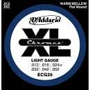 D'Addario ECG25 CHROMES 12-52 FLAT WOUND LISCE