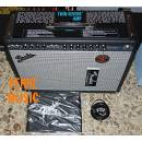 FENDER 68 CUSTOM TWIN REVERB VINTAGE MODIFIED + FOOTSWITCH + COVER