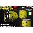 DRUM SOUND EVO 2.0 20 12 15 ACERO/BETULLA! MADE IN ITALY! IN GARANZIA UFFICIALE!