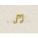 MPE Audio Spilla musicale nota doppia con zircone mod: MCLIPS21Z
