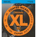 D'addario EXP160 COATED NW BASS MEDIUM 50/105 LONG SET CORDE