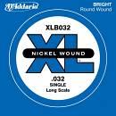 D¿ADDARIO XLB032 CORDA SINGOLA BASSO XL NICKEL WOUND