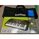 CASIO SA-47 Tastiera con 32 Minitasti con alimentatore e Borsa Casio