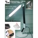 EXTREME TOUCH DESK LAMP X100-B BLACK LAMPADA RETE / USB REGOLABILE DA TAVOLO 60 LED CONTROLLO TEMPER