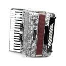 Muses 2006WH - fisarmonica 80 bassi - colore bianco - con custodia
