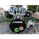 "SONOR Force 3001; 20"", 10"", 12"", 14"", 16"" + 14"" snare drum."