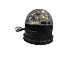 EXTREME CRYSTAL BALL 318 EFFETTO LUCE LED MAGIC MEZZA SFERA RGB 3x1W + 8W SUN-FLOWER 48X5MM 16XRGB L