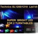 TECHNICS SL 1200 - 1210 MK2 KIT LED  BLU PER 2 GIRADICHI