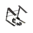Soundsation Slap-130 - Supporto Laptop Da Tavolo Con Altezza - Larghezza Regolabili E Sistema Di Fis