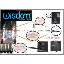 Sparkular Fontana fredda spark machine pro wisdom 400w telecomando flightcase