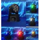moving head wash led 7x12 4in1 rgbw full color mini teste mobili dj effetti