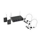 Soundsation Wf-v21ppb - Radiomicrofono Vhf Doppio Plug And Play Con 2 Bodypack E Archetti (205.75 Mh