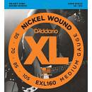 D'ADDARIO EXL160 MUTA CORDE PER BASSO 4 CORDE 50/105 NICKEL WOUND MEDIUM GAUGE LONG SCALE