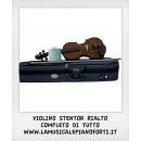 STENTOR RIALTO VIOLINO 1/10 NUOVO CON CUSTODIA ED ARCO, SPEDIZIONE GRATIS!