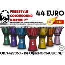 """TOCA DJEMBE' 7"""" COLORSOUND! DJEMBE' PROFESSIONALI IN RESINA! GARANZIA UFFICIALE!"""
