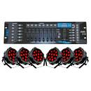 SOUNDSATION Stage Lighting Pack 6 Fari LED SLIM-10W-12 con DMX512