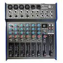 EXTREME MX1204XDU MIXER 8 CANALI COMPATTO PER LIVE PHANTOM POWER +48V MAIN OUT XLR + EFFETTI + USB