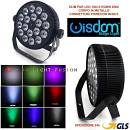 WIDOM SLIM PAR LED 18X12W RGBW DMX 4in1 full color luci palco dj show dmx strobo