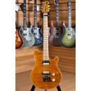 Music Man Axis Super Sport HH Tremolo Flame Maple Neck Trans Gold Matched Headstock