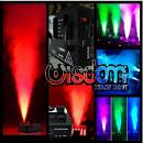 macchina fumo effetto GEYSER 1500w dmx getto verticale e led 3in1 color fog