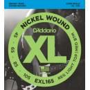 D'ADDARIO EXL165 MUTA CORDE PER BASSO 4 CORDE 45/105 NICKEL WOUND LONG SCALE REG LIGHT TOP/MED BOTTO